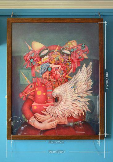 Alice Lin - I Love Unicorn (Frame Dimensions Front)