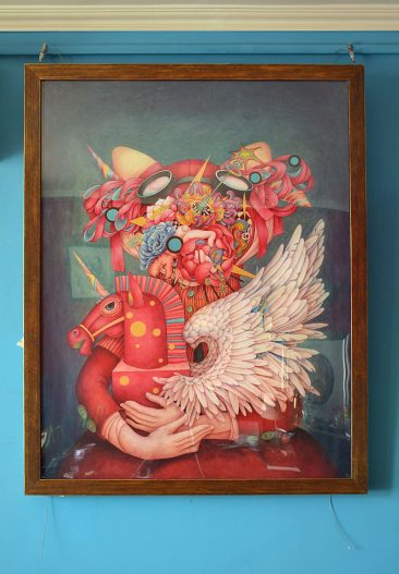 Alice Lin - I Love Unicorn (Framed - Front)