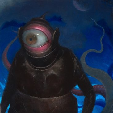 Chris Leib - Frog King and His Retainers (Detail 1)
