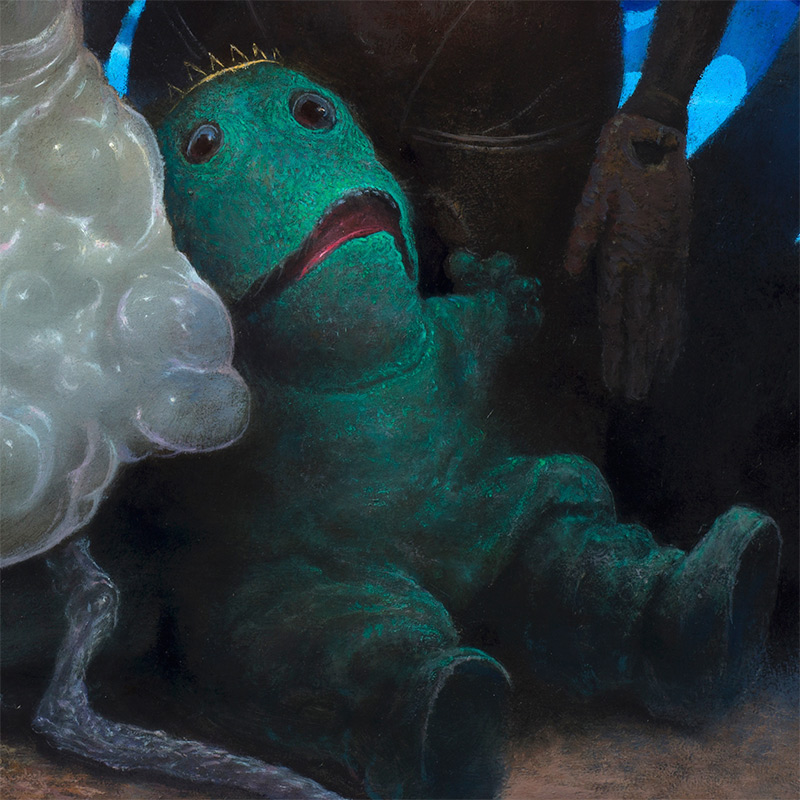 Chris Leib - Frog King and His Retainers (Detail 2)