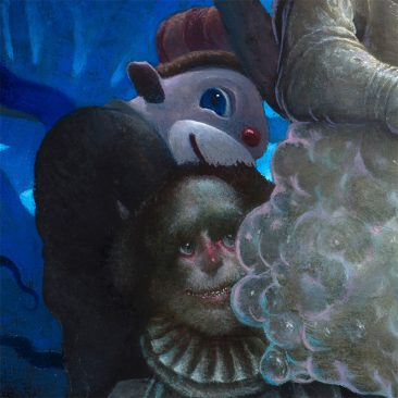 Chris Leib - Frog King and His Retainers (Detail 3)