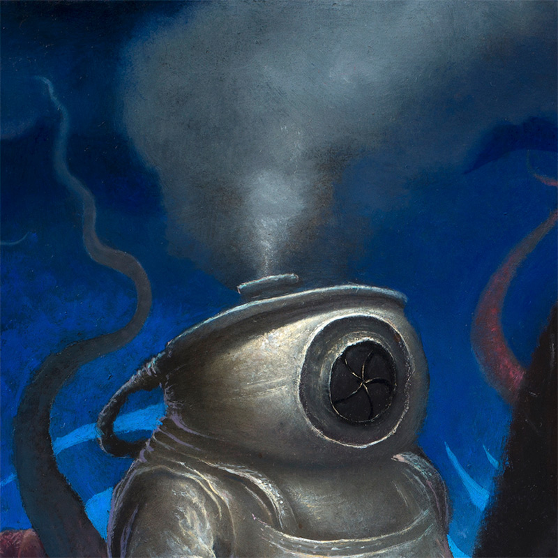 Chris Leib - Frog King and His Retainers (Detail 4)