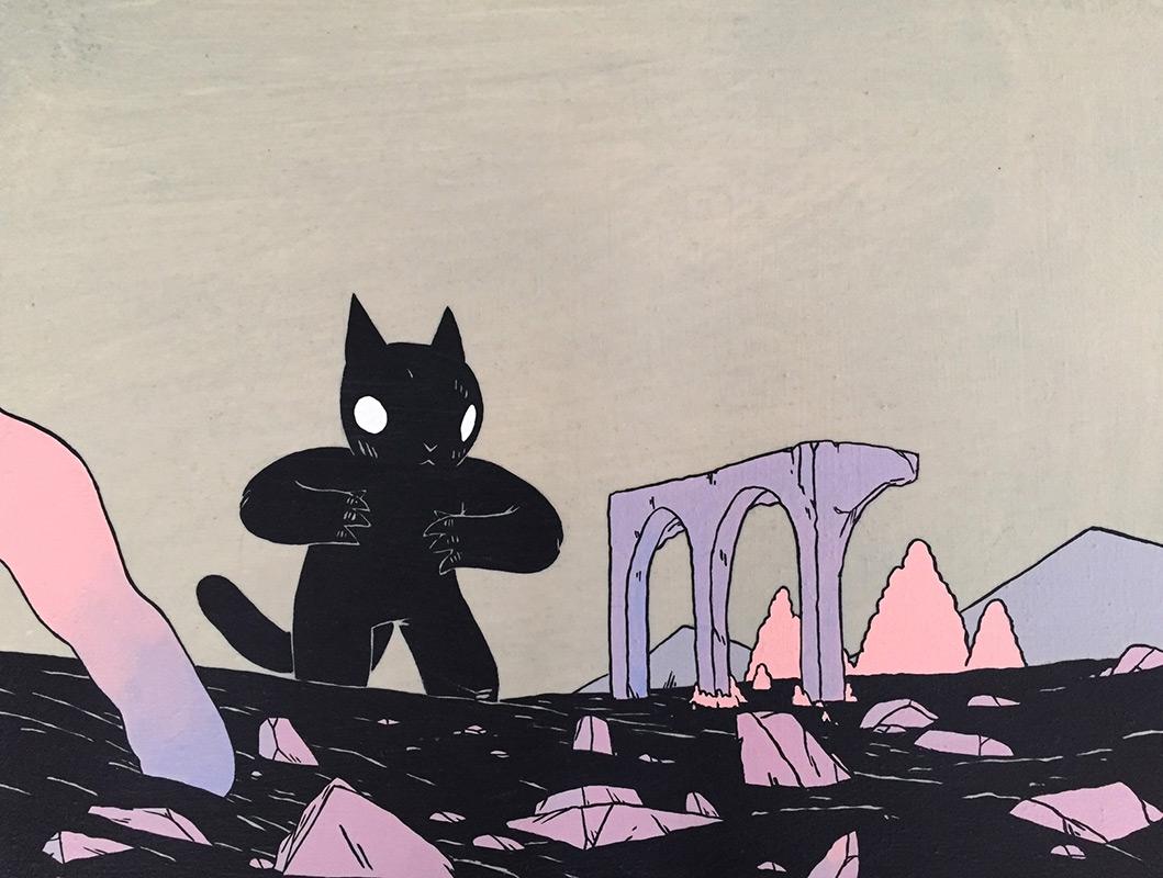 Deth P. Sun - Giant Cat and Ruins