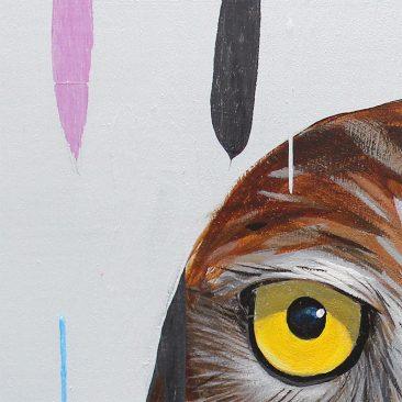 Frank Gonzales - Burrowing Owl (Detail 3)