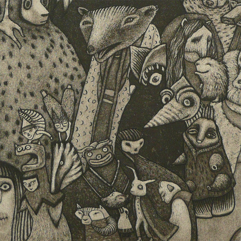 Pamela Tait - Friends Together at Culbokie Woods (Detail 4)