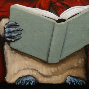 Henry Schreiber - Bookworm (Detail 2)