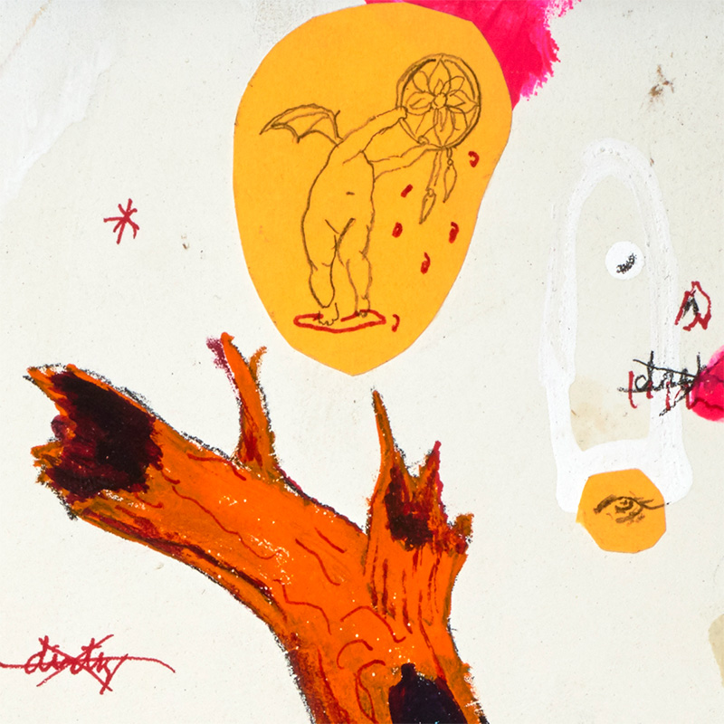 P-Jay Fidler - Partaking with Witches in a Dirty Dream Catcher (Detail 1)