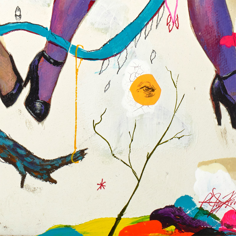 P-Jay Fidler - Partaking with Witches in a Dirty Dream Catcher (Detail 3)