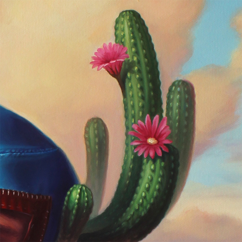 Paul Neberra - The Mysterious Apparition of the Cactus (Nacho's Enlightenment) (Detail 2)