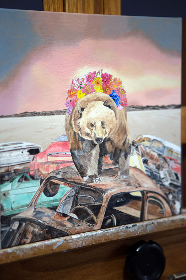 Amy Guidry - Bear (Painting in Progress)