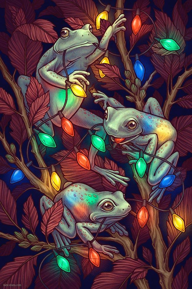 Kate OHara - Frog Christmas