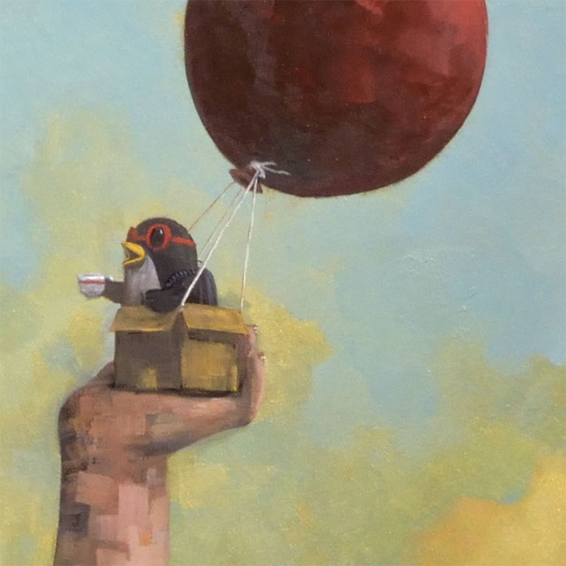 Nathan Durfee - Coffee Before the Flight (Detail 1)