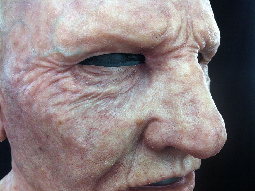 Victor LeBlanc - Old Man Skin Detail (Airbrush and Silicone)