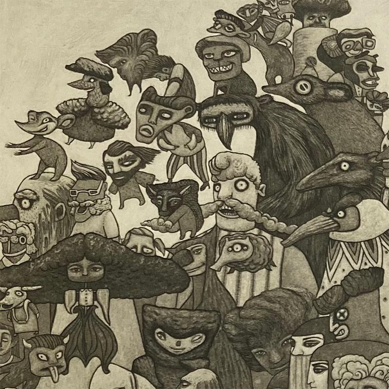 amela Tait - The Goo-Ass Parade, Glen Affric (Detail 1)