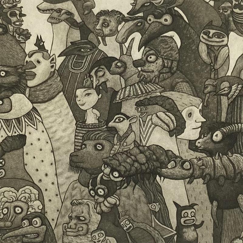 Pamela Tait - The Goo-Ass Parade, Glen Affric (Detail 2)