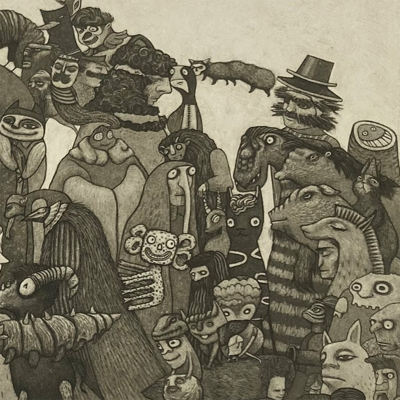 Pamela Tait - The Goo-Ass Parade, Glen Affric (Detail 3)