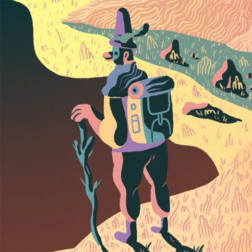 Scott Balmer - Expedition of the Great Neon Mountain (Detail 3)