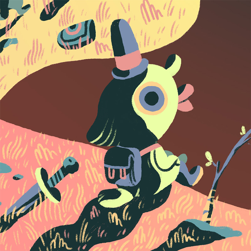 Scott Balmer - Expedition of the Great Neon Mountain (Detail 4)