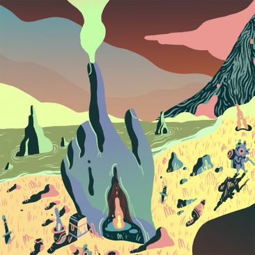 Scott Balmer - Expedition of the Great Neon Mountain (Detail 5)