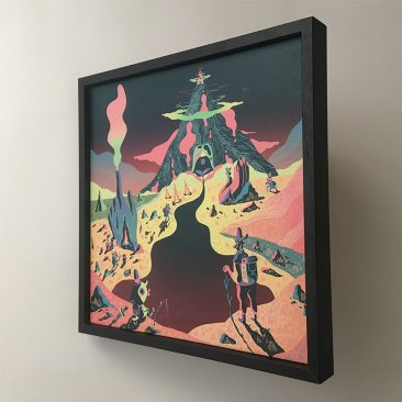 Scott Balmer - Expedition of the Great Neon Mountain (Frame - Side)