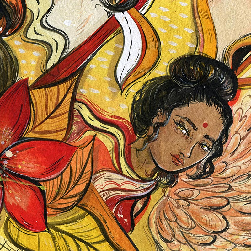 Vivian Shih - Flowers of Culture (Detail 3)