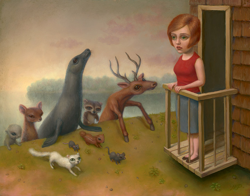Marion Peck - Dream#722 Many Animals are Coming Up From the Beach