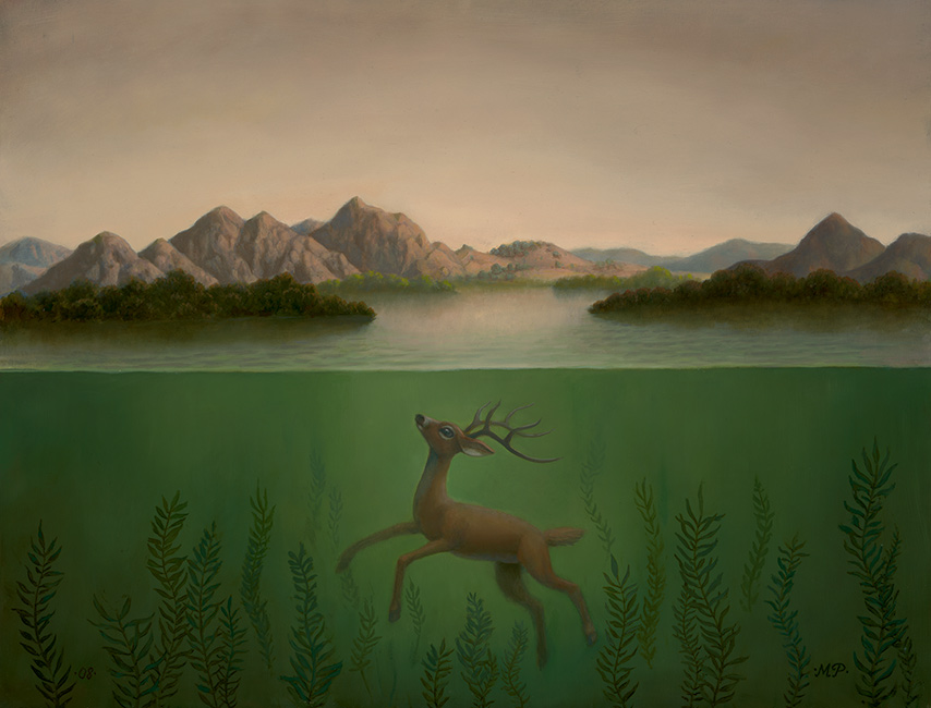Marion Peck - Landscape with a Submerged Deer