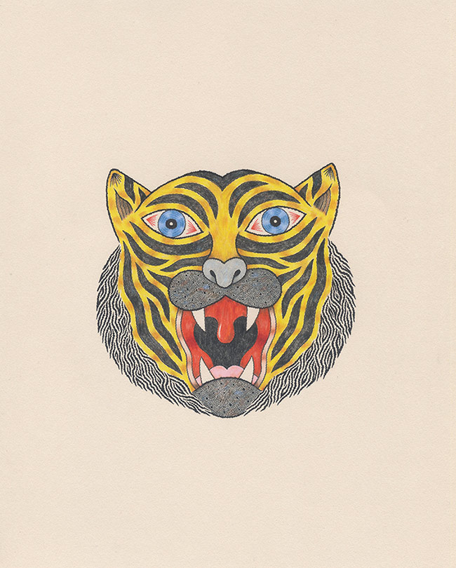 Matt Leines - Tiger Head