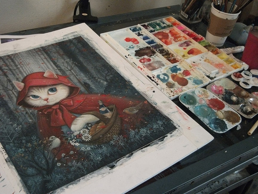 Phoenix Chan - Little Red Riding Hood - Cat Edition (WIP)