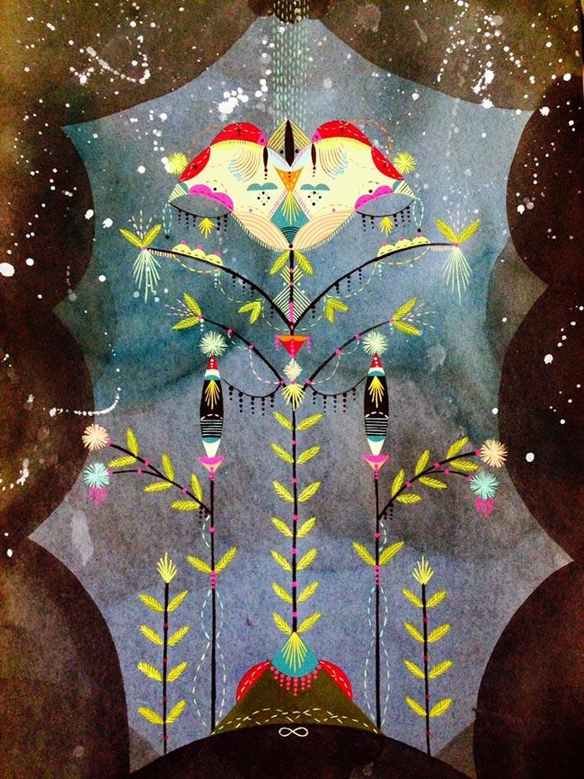 Bunnie Reiss - Space Flower