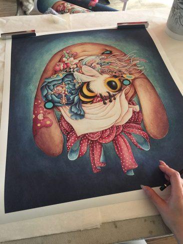 Alice Lin - Miss Rabbit's Garden (Print Signing)