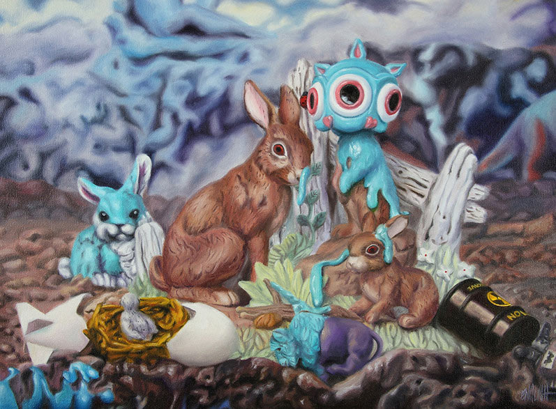 Ron English - Melting Rabbbit