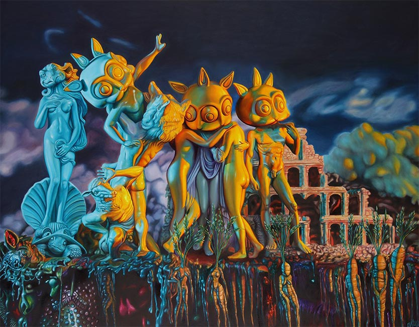 Ron English - Statues in Delusionville