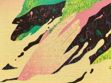 Scott Balmer - Journey to the Isle of Titans (Print on Wood - Detail 1)