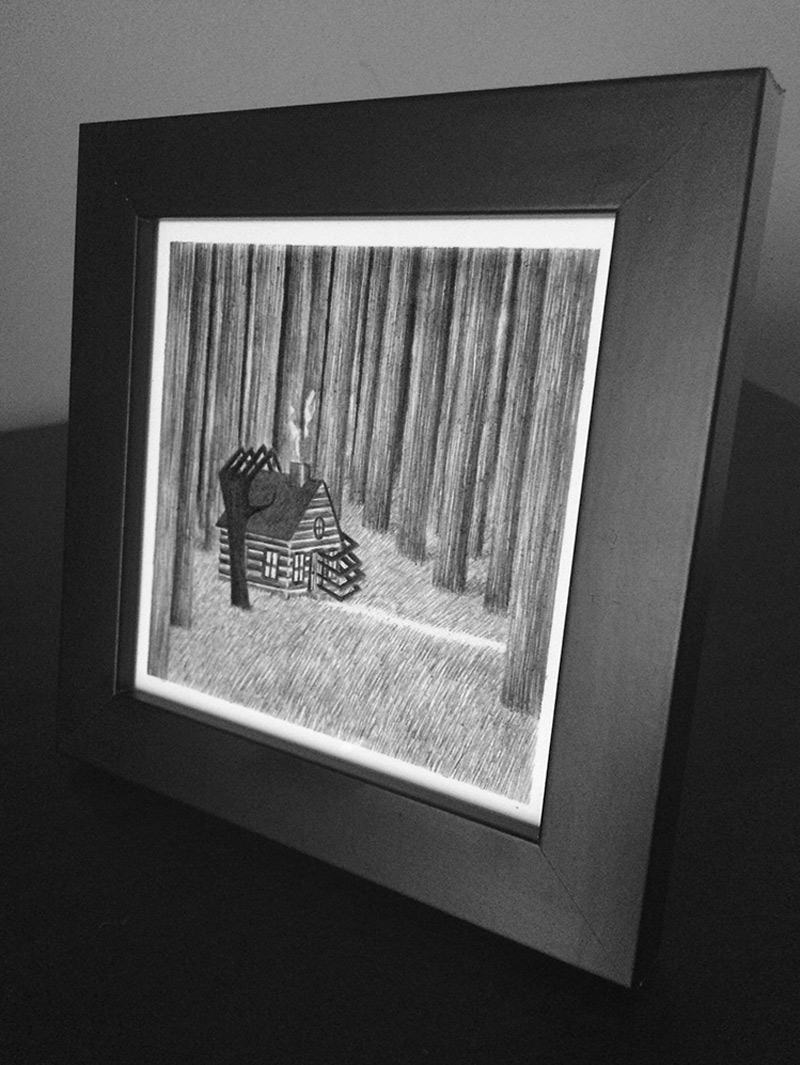 James Lipnickas - The House in the Woods (Framed - Side)