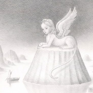 Nicoletta Ceccoli - The White Sphinx (Detail 1)