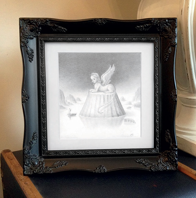 Nicoletta Ceccoli - The White Sphinx (Framed)