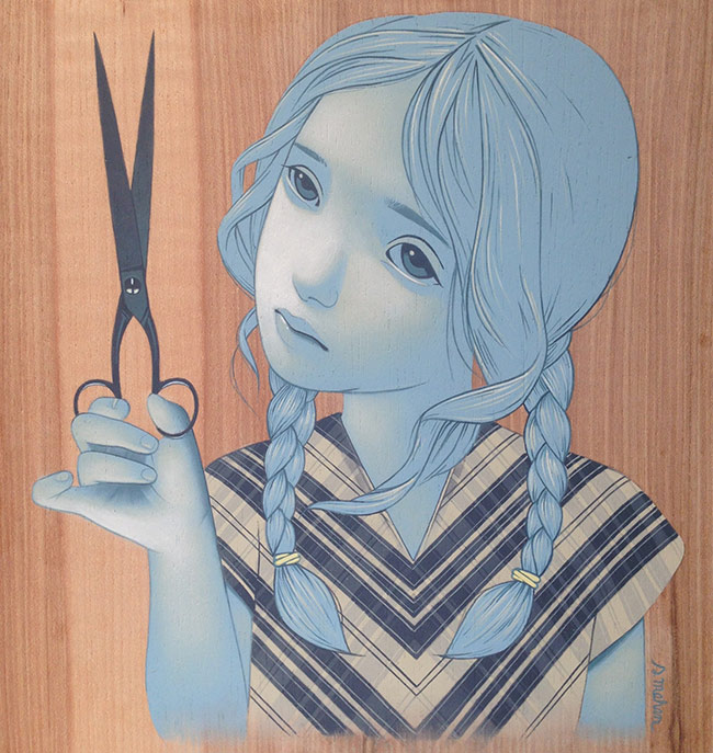 Sean Mahan - Girl and Scissors