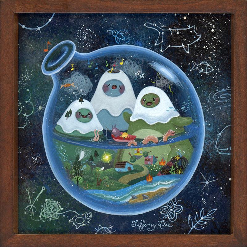Tiffany Liu - A Crazy World (Framed - Front)