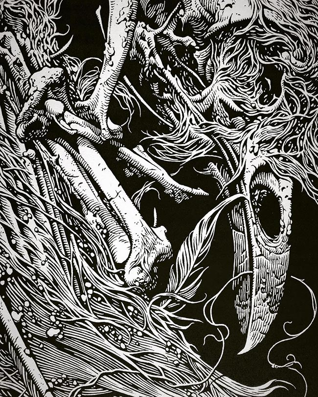 Aaron Horkey - Cable 2 (Detail)