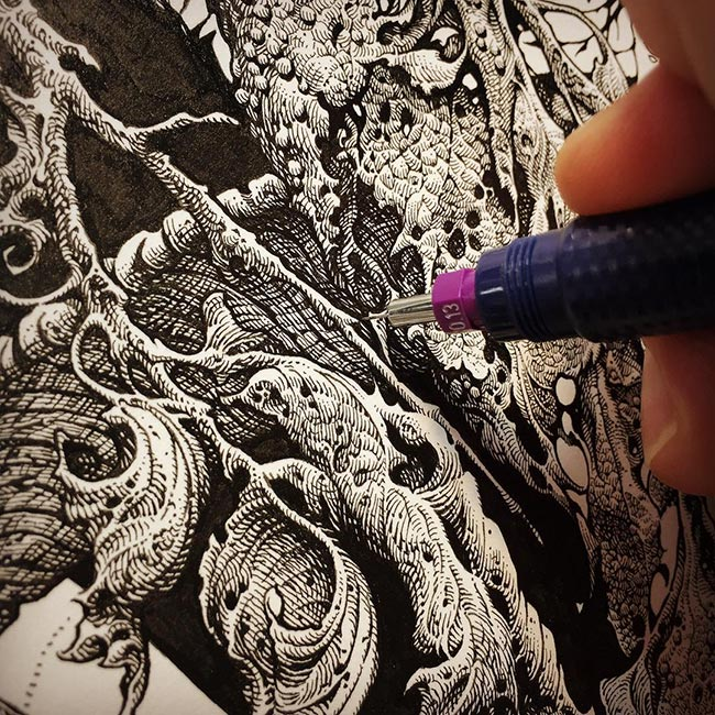 Aaron Horkey - Forest Effigy (in Process)
