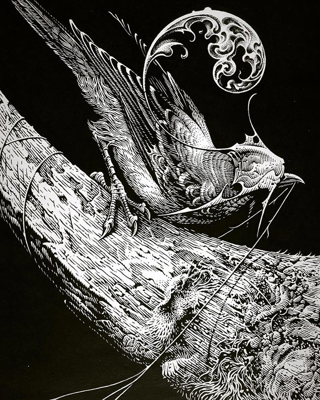 Aaron Horkey - Only Death is Real (Detail)