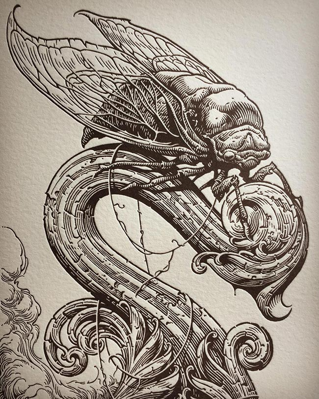 Aaron Horkey - The Rook (Detail)