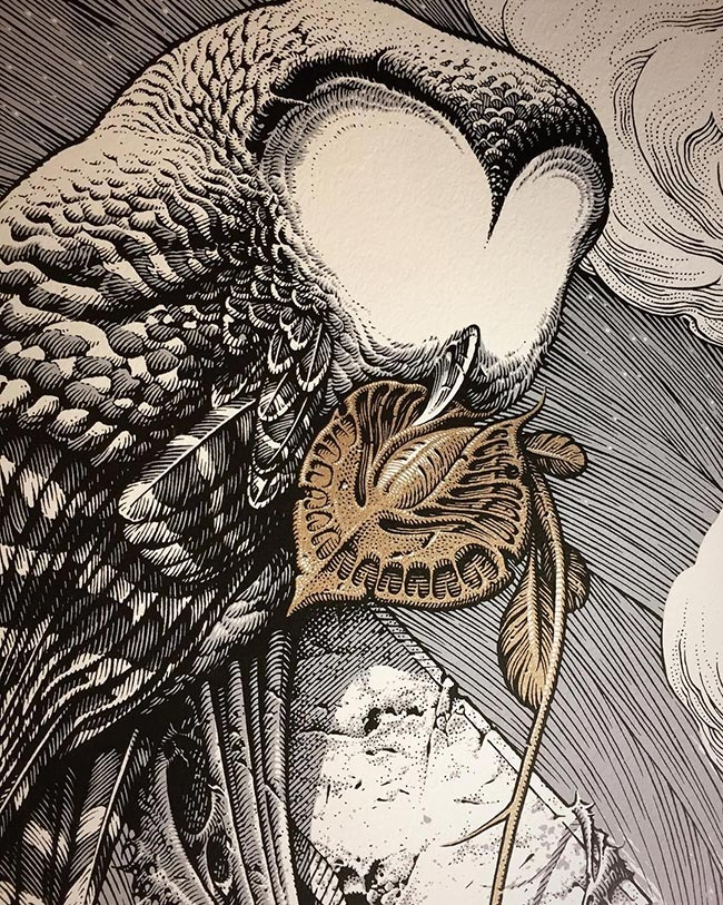 Aaron Horkey - To Harrow a Naif (Detail)