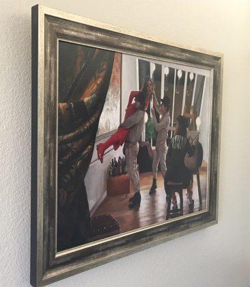 Vincent Cacciotti - Allegory of Mayhem (Framed - Side)