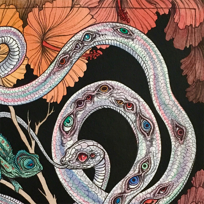 Caitlin Hackett - Visions from the Lost Garden (Detail 1)