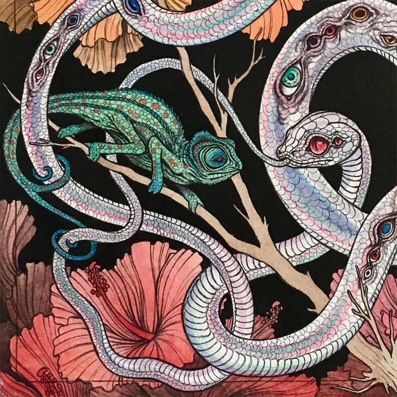 Caitlin Hackett - Visions from the Lost Garden (Detail 2)