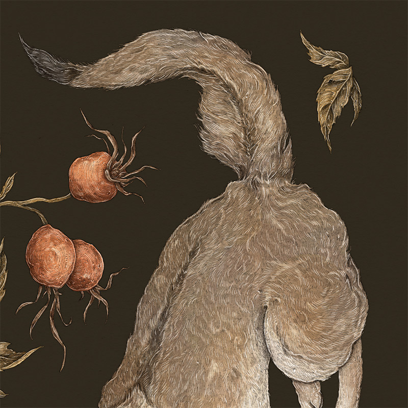 Jessica Roux - The Wolf and Rose Hip (Detail 1)