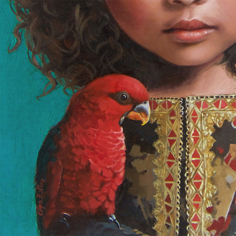 Olga Esther - The Princess and the Scarlet Bird (Detail 2)