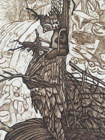Pamela Tait - The Fallen, Culbo Woods, The Black Isle (Detail 3)